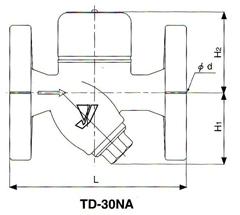 TD-10NA疏水阀尺寸图