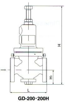 GD-200减压阀尺寸图