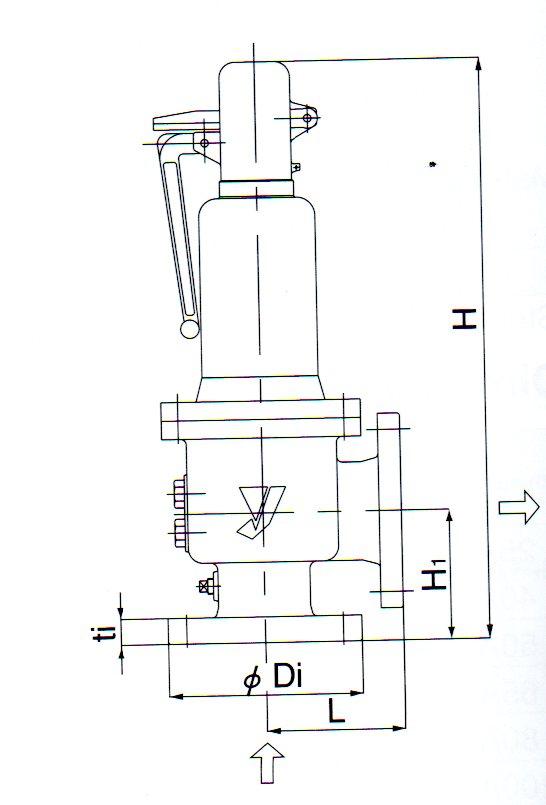 AF-2安全阀尺寸图