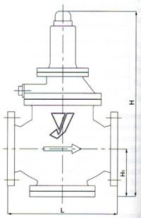 GP-27蒸汽减压阀尺寸图